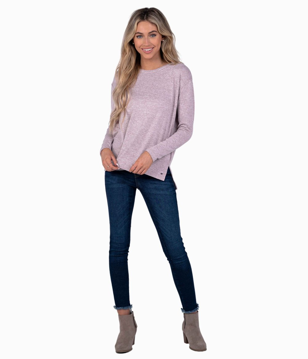 SOUTHERN SHIRT CO. Women's Sweater Southern Shirt Sincerely Soft Heather Fleece - Woodrose || David's