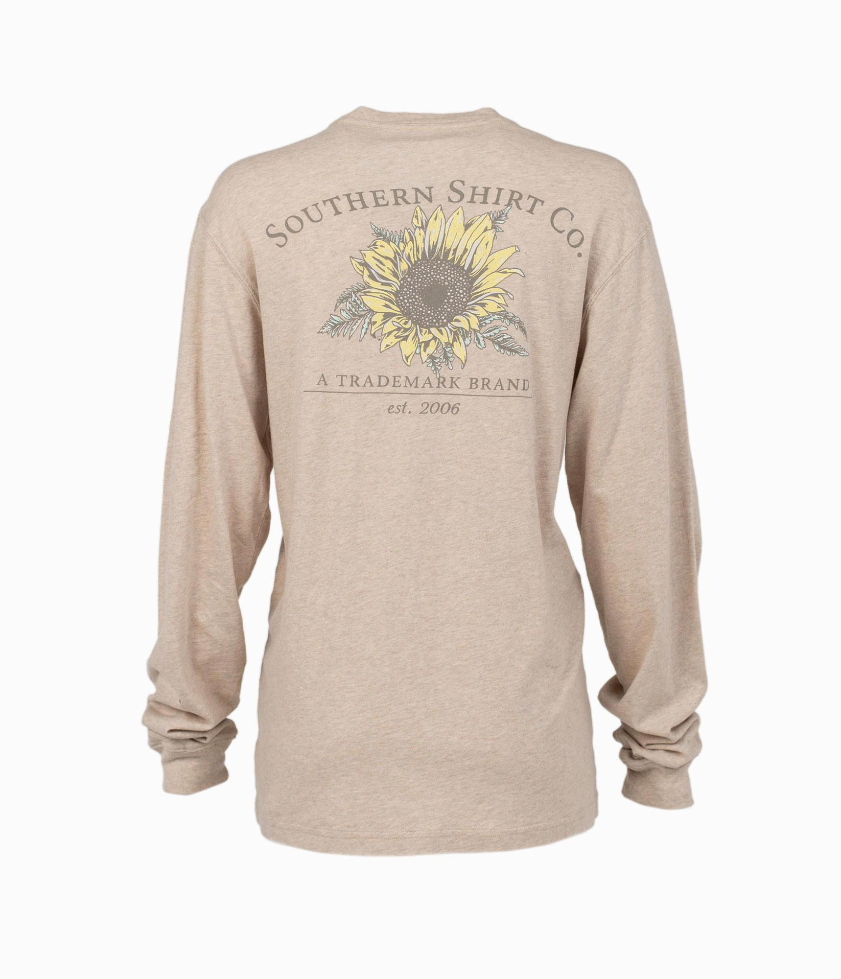 SOUTHERN SHIRT CO. Women's Tees OATMEAL / XS Southern Shirt Harvest Flower LS Tee || David's Clothing 2T185-680