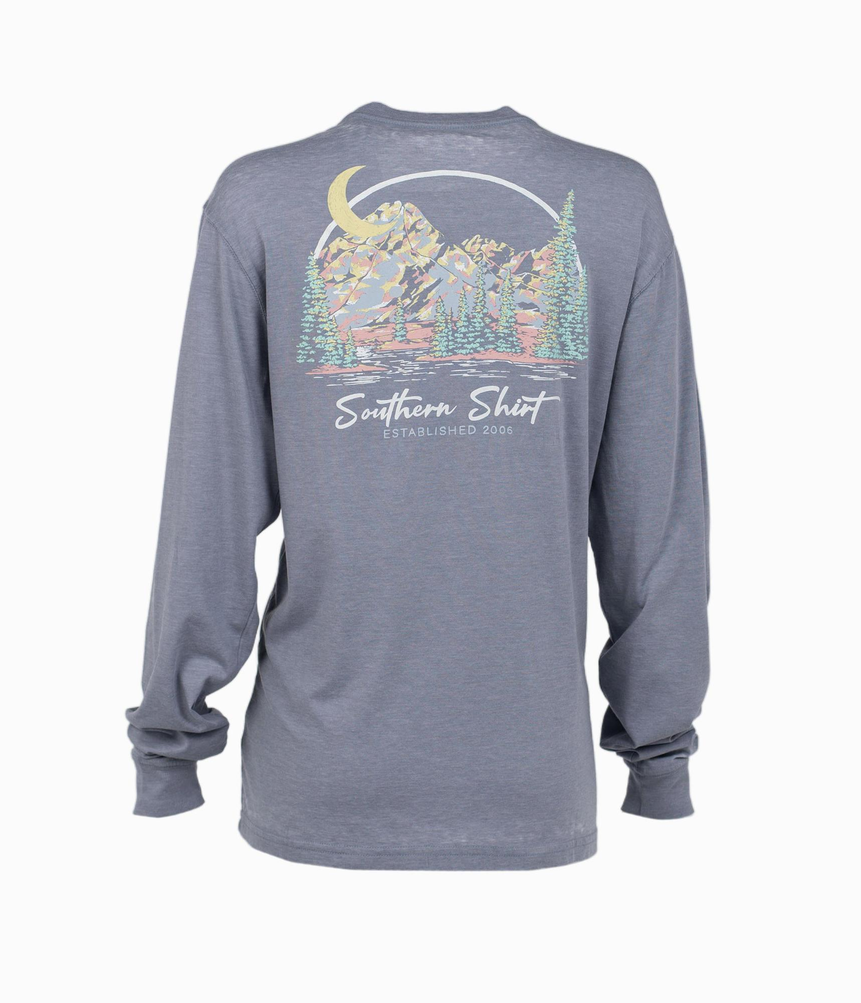 SOUTHERN SHIRT CO. Women's Tees Southern Shirt Enjoy The View LS Tee || David's Clothing