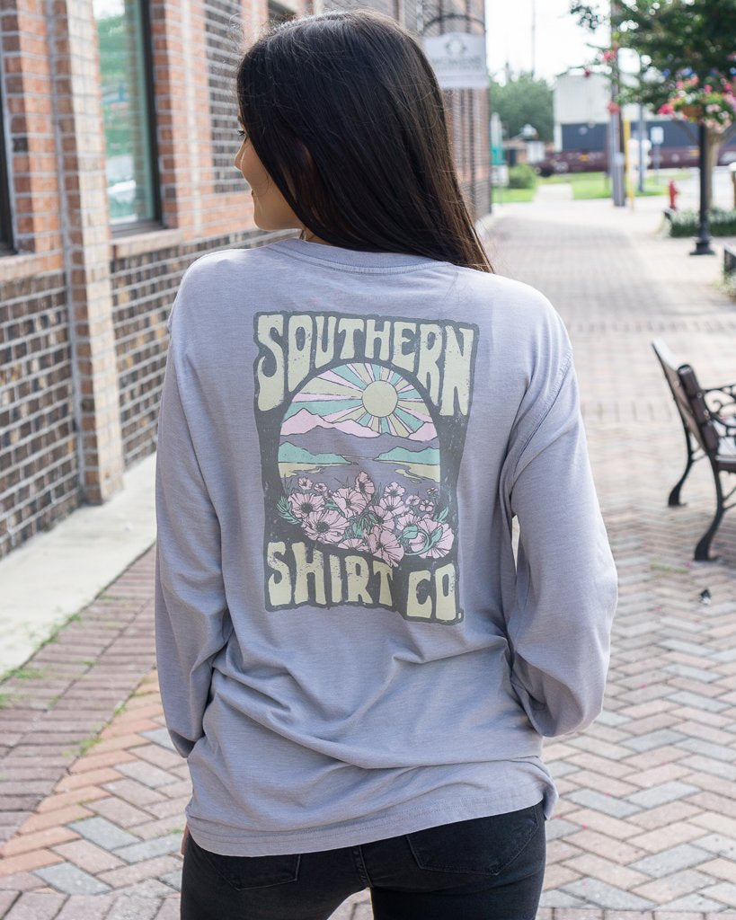 SOUTHERN SHIRT CO. Women's Tees Southern Shirt Wallflower LS Tee || David's Clothing