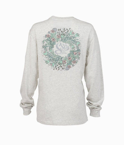 SOUTHERN SHIRT CO. Women's Tees Southern Shirt Woodland Laurel Tee LS - Stone || David's Clothing