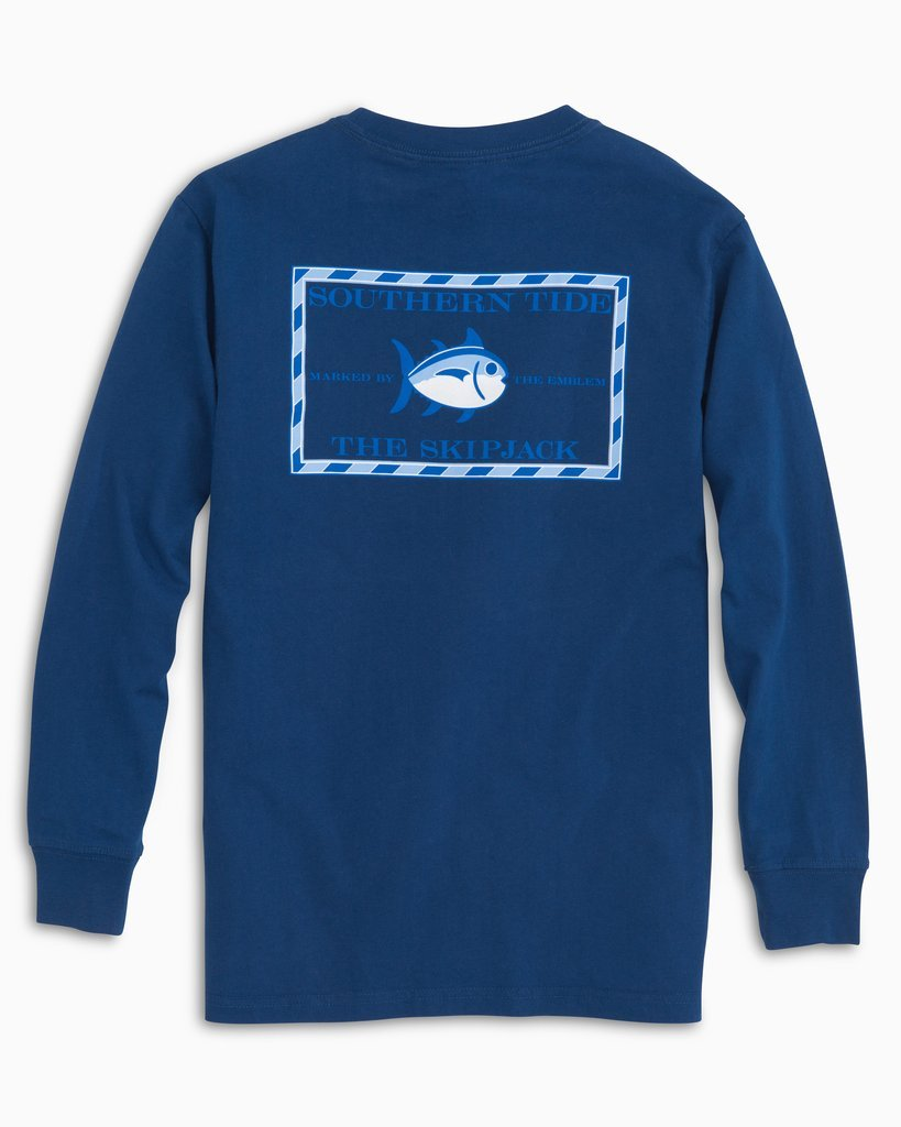 SOUTHERN TIDE Kid's Tees Southern Tide Kids Long Sleeve Original Skipjack T-Shirt || David's Clothing