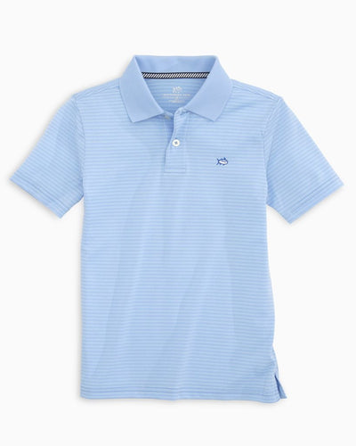 SOUTHERN TIDE Kid's Tops Southern Tide Boys Roster Striped Performance Polo Shirt || David's Clothing