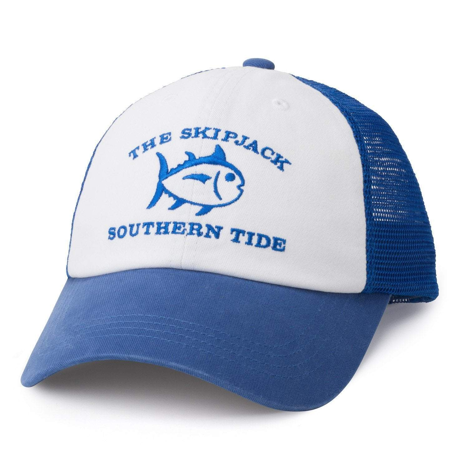 SOUTHERN TIDE Men's Hats WHITE ROYAL / Adult Southern Tide Skipjack Trucker Hat - Royal Blue || David's Clothing 1964WR