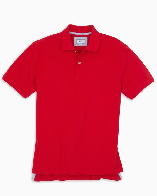 SOUTHERN TIDE Men's Polo Southern Tide Skipjack Gameday Colors Polo Shirt - Varsity Red