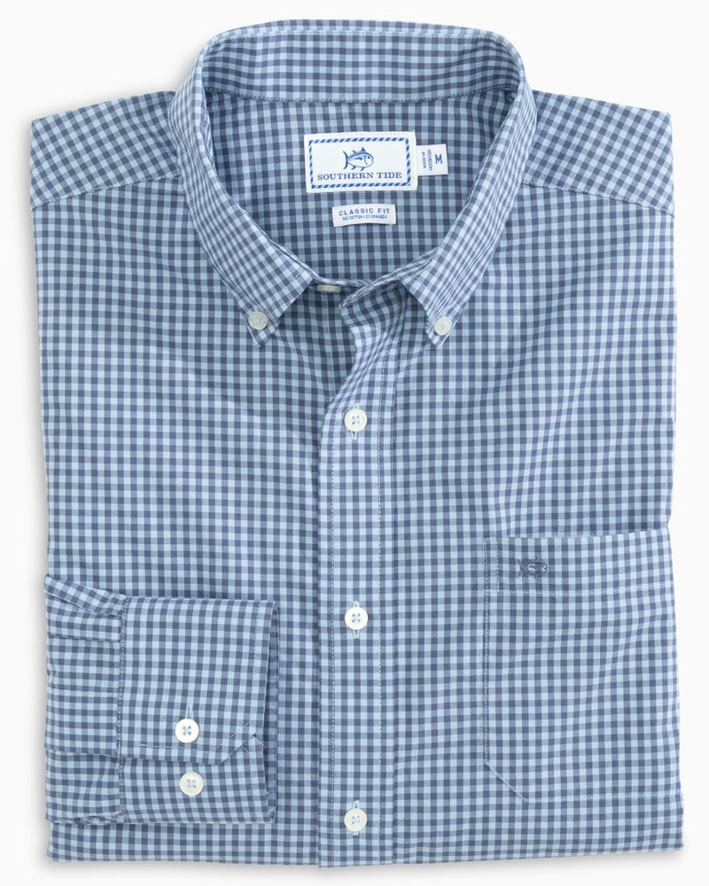 SOUTHERN TIDE Men's Sport Shirt Southern Tide Skipjack Gingham Button Down Shirt || David's Clothing