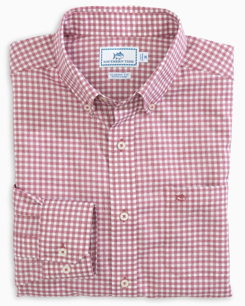 SOUTHERN TIDE Men's Sport Shirt Southern Tide Gingham Mist Button Down Shirt || David's Clothing