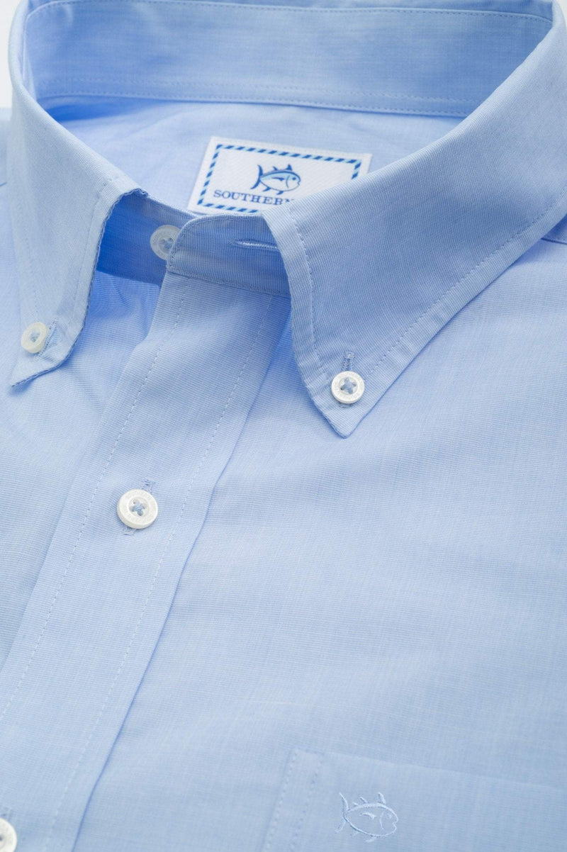 SOUTHERN TIDE Men's Sport Shirt S / Sail Blue Southern Tide Men's Sullivans Solid Sport Shirt || David's Clothing 3790