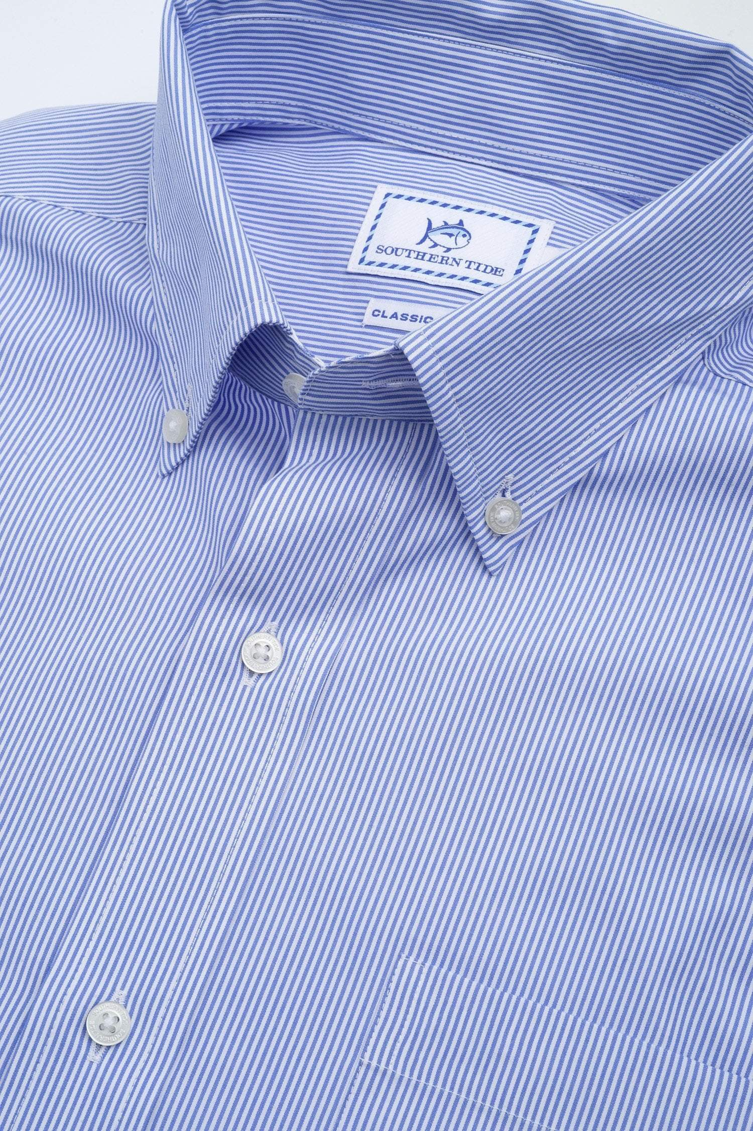 SOUTHERN TIDE Men's Sport Shirt Southern Tide Mens Edgewood Stripe Sport Shirt || David's Clothing