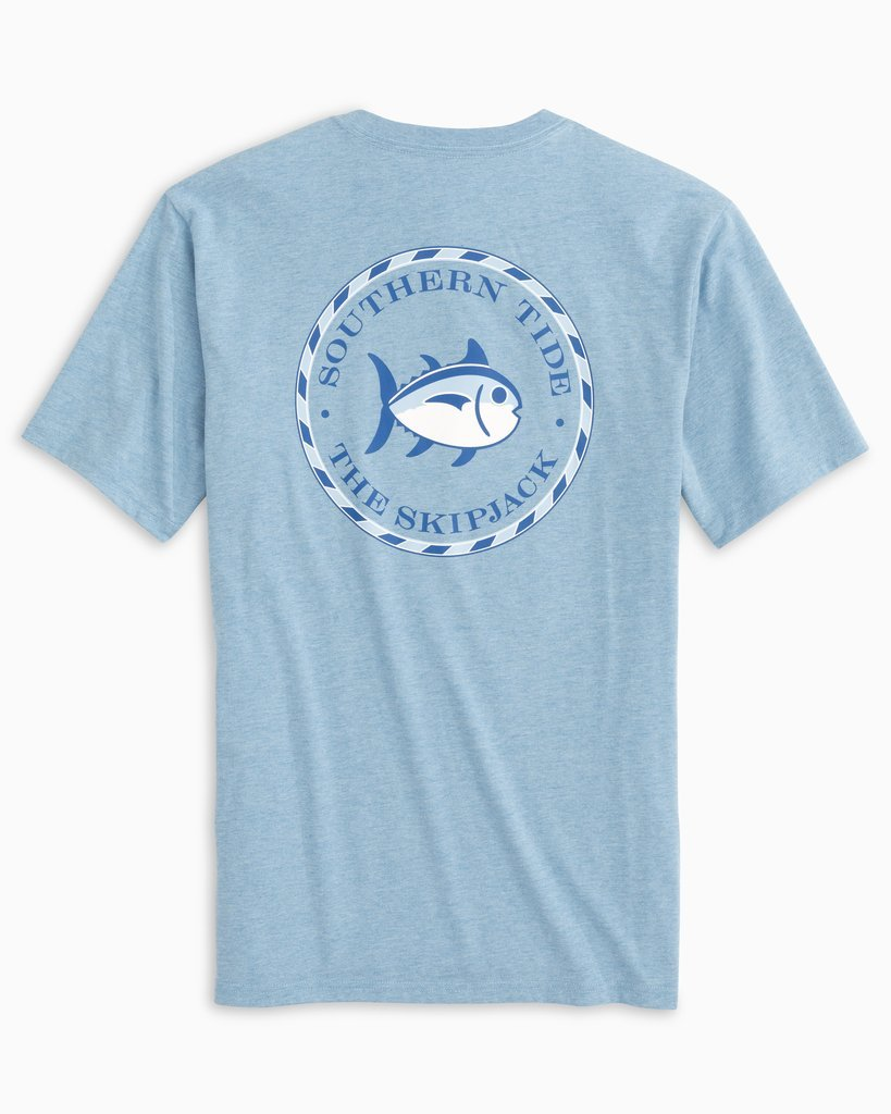 SOUTHERN TIDE Men's Tees HEATHER OCEAN / S Southern Tide Original Skipjack Circle Heathered T-Shirt || David's Clothing 79432288