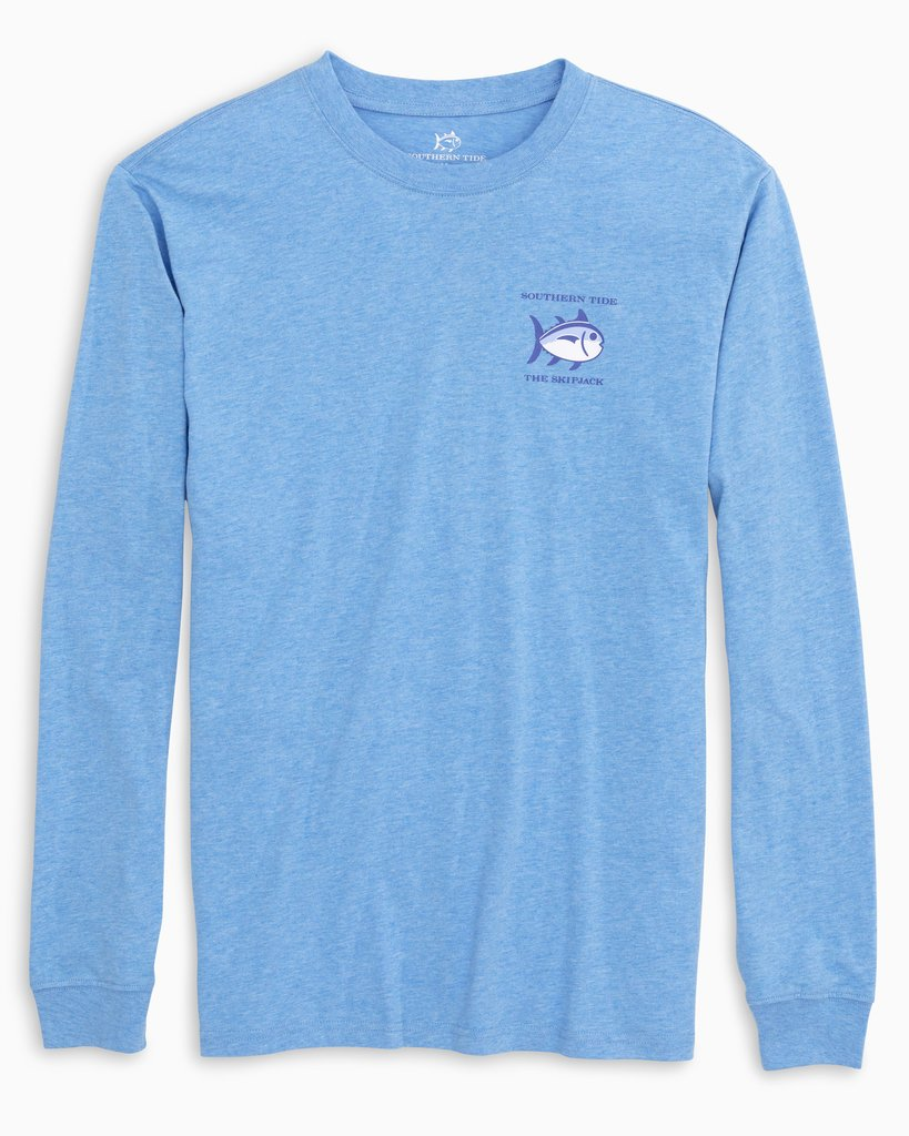 SOUTHERN TIDE Men's Tees HEATHER BLUE / S Southern Tide Long Sleeve Original Skipjack T-Shirt || David's Clothing 33512619