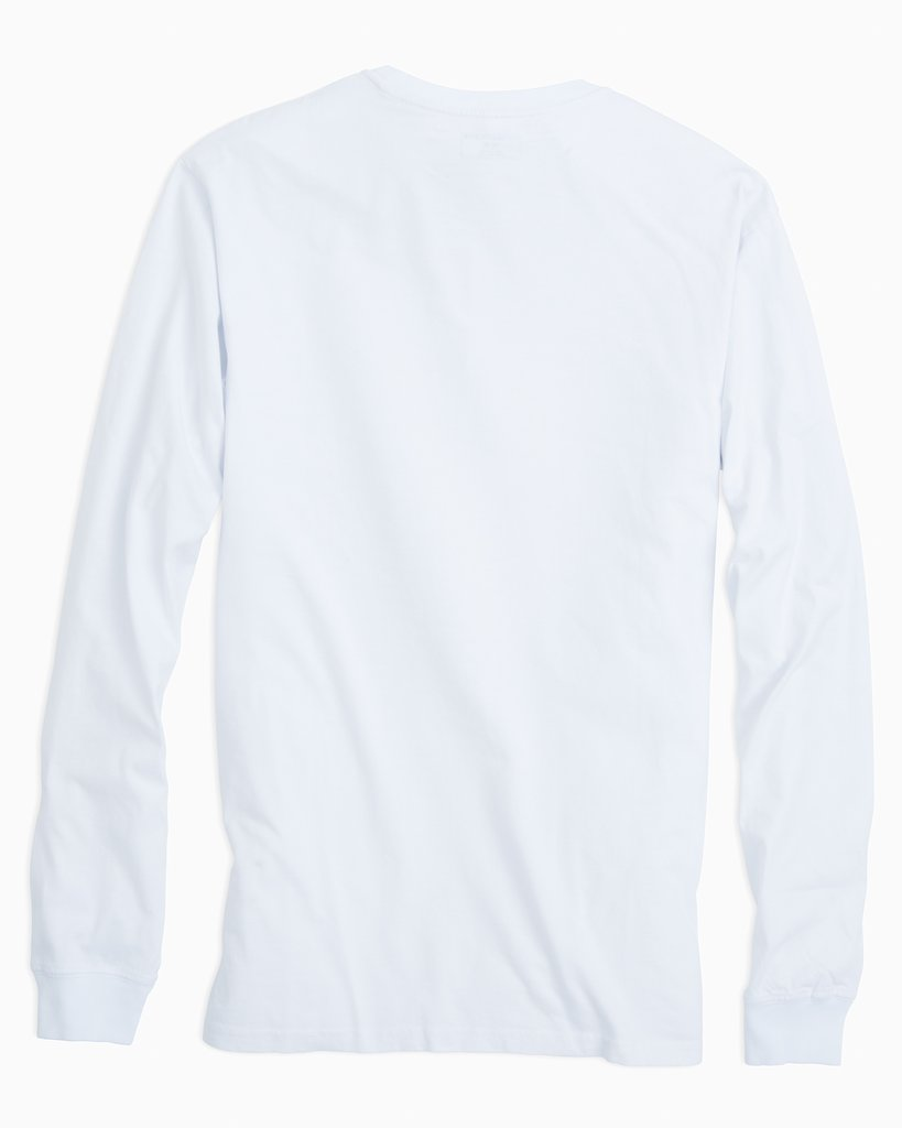 SOUTHERN TIDE Men's Tees Southern Tide Long Sleeve Embroidered Pocket T-Shirt || David's Clothing