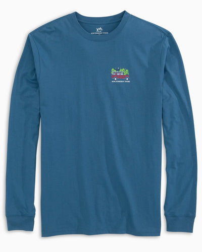 SOUTHERN TIDE Men's Tees Southern Tide Mountain Truck Long Sleeve T-Shirt || David's Clothing