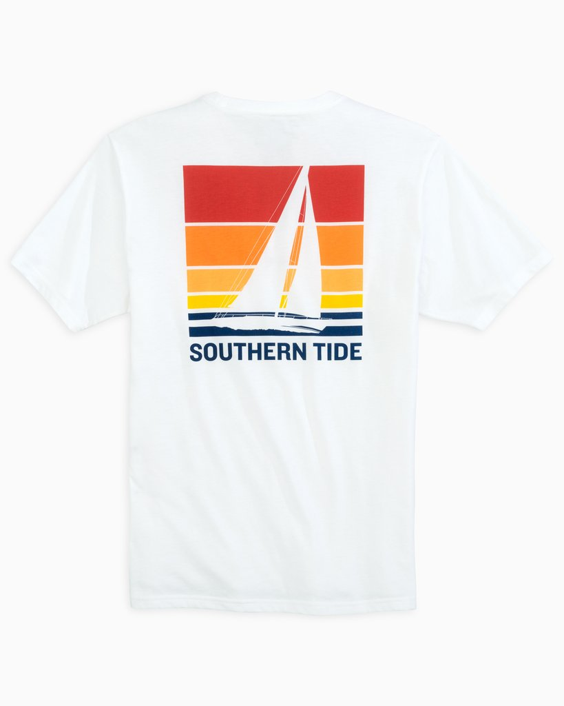 SOUTHERN TIDE Men's Tees Southern Tide Sailing Sunset T-Shirt || David's Clothing
