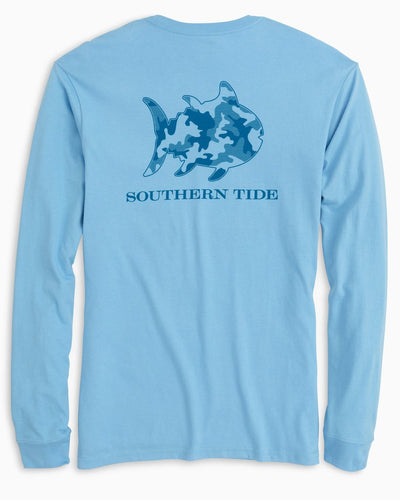 SOUTHERN TIDE Men's Tees Southern Tide Skipjack Camo Long Sleeve T-Shirt || David's Clothing