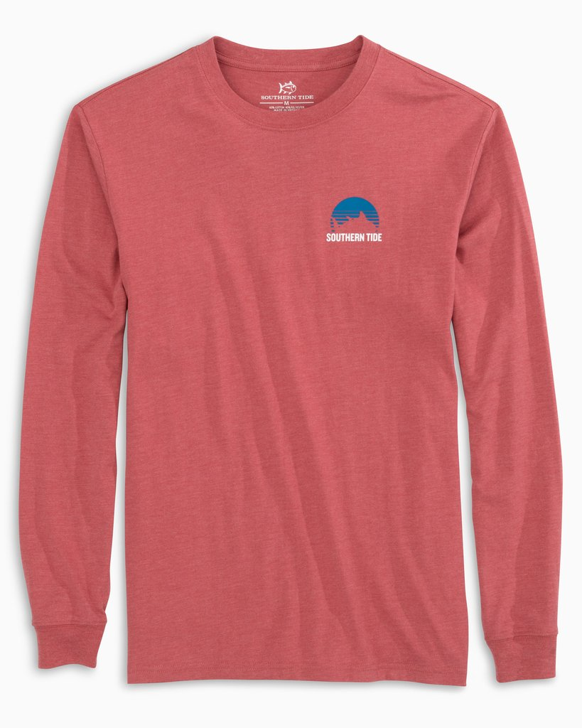 SOUTHERN TIDE Men's Tees Southern Tide Skipjack Setting Sun Long Sleeve T-Shirt || David's Clothing