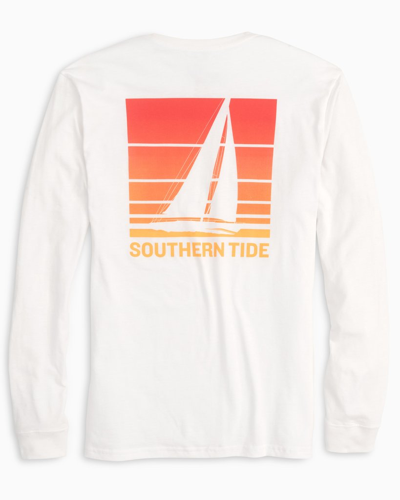 SOUTHERN TIDE Men's Tees Southern Tide Sunset Sailing Long Sleeve T-Shirt || David's Clothing