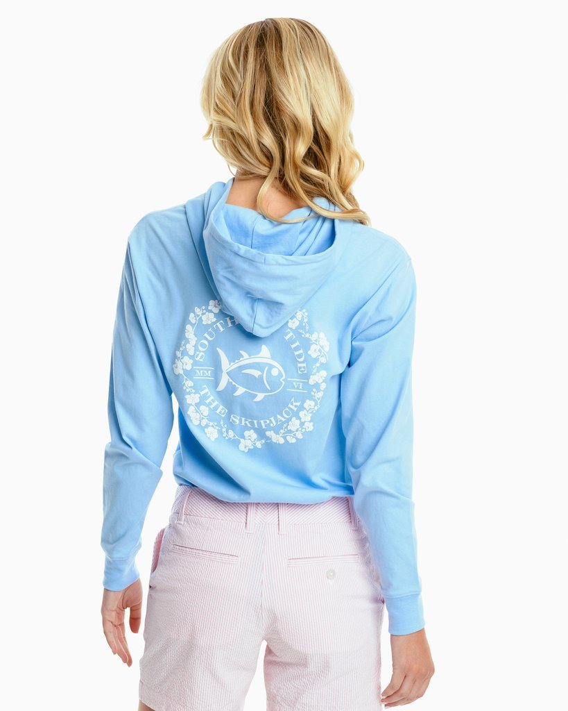 SOUTHERN TIDE Women's Tees Southern Tide Orchid Skipjack Hoodie Tee || David's Clothing