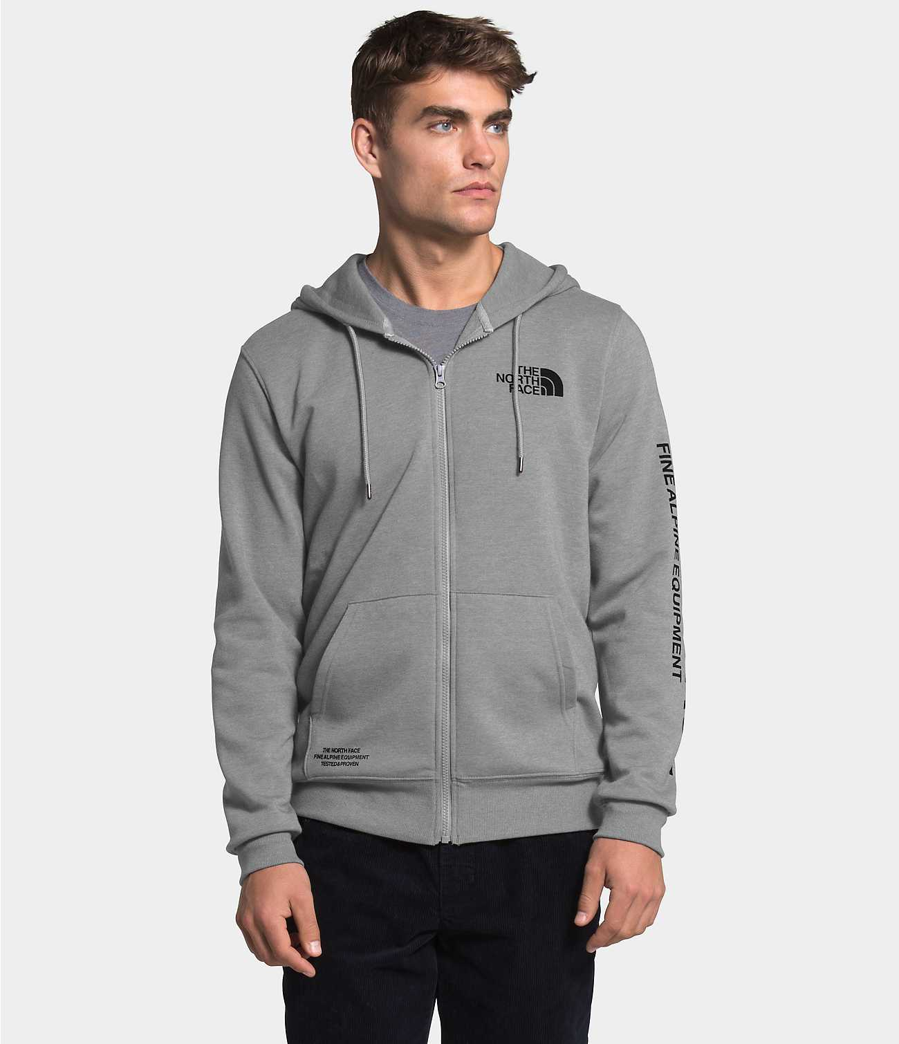 THE NORTH FACE Men's Outerwear North Face Men's Brand Proud Full Zip Hoodie || David's Clothing
