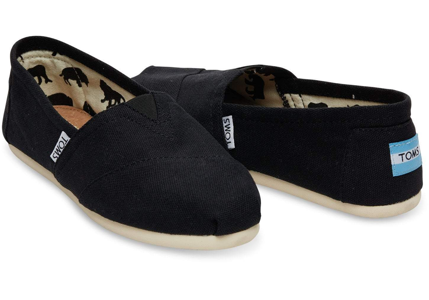 Toms Shoes Women's Shoes Toms Classic Women's Slip On - Black || David's Clothing, 1001b07- BLK