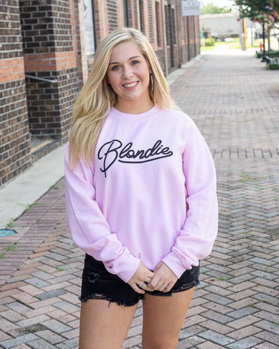 WKENDER Women's Sweater BABY PINK / S Blondie Graphic Sweatshirt || David's Clothing 3183SS02BP