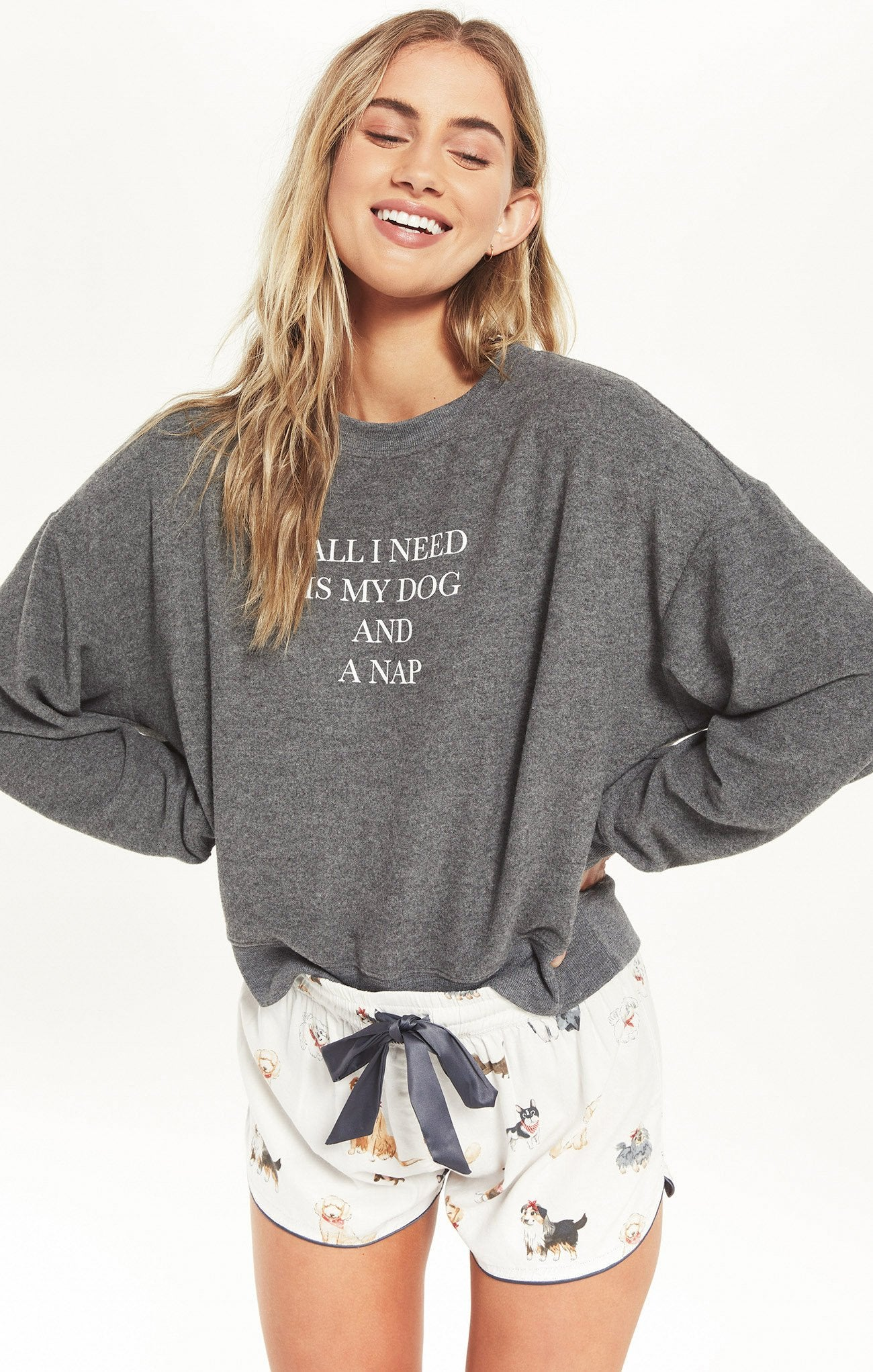 Z SUPPLY Women's Top Z Supply Elle All I Need Sweatshirt || David's Clothing
