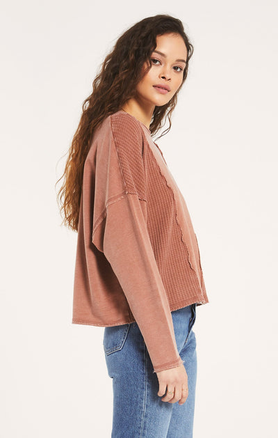 Z SUPPLY Women's Top Z Supply Harper Thermal Skimmer Long Sleeve || David's Clothing