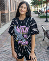 ZUTTER Women's Tees BLACK / S Wild N Free Vintage Graphic Tee || David's Clothing 9425