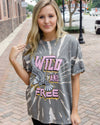 ZUTTER Women's Tees GREY / S Wild N Free Vintage Graphic Tee || David's Clothing 9425