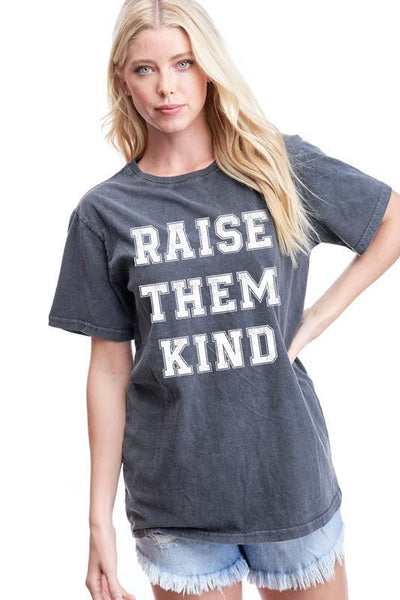ZUTTER Women's Tees Raise Them Kind Graphic Tee || David's Clothing