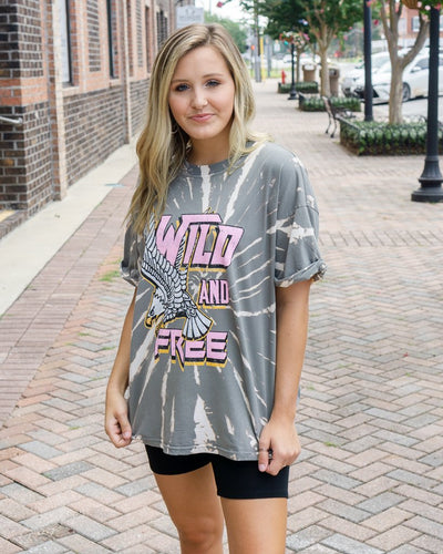 ZUTTER Women's Tees Wild N Free Vintage Graphic Tee || David's Clothing
