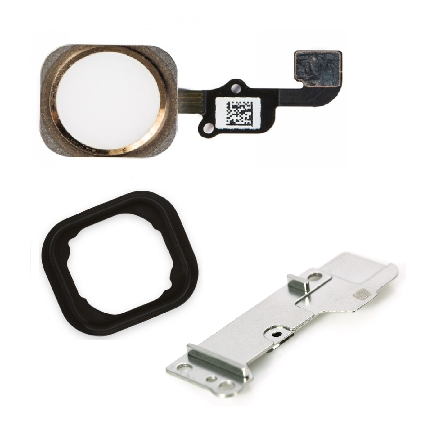 huge selection of b73fc 42878 Apple iPhone 6s Home Button Flex Cable+Holder Rubber+Metal Bracket - Gold