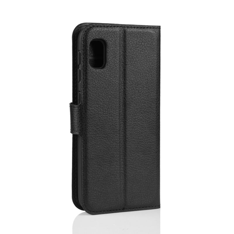 Samsung Galaxy A10e Wallet Case Cover PU Leather Black
