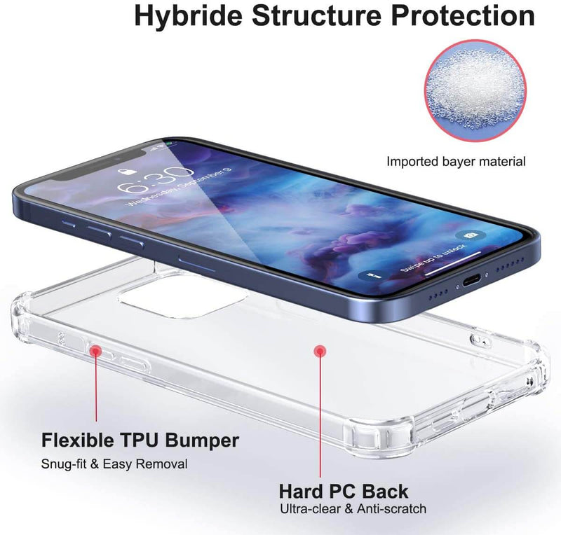 Clear Soft TPU Cover For Apple iPhone 12 Pro Max ShockProof Case