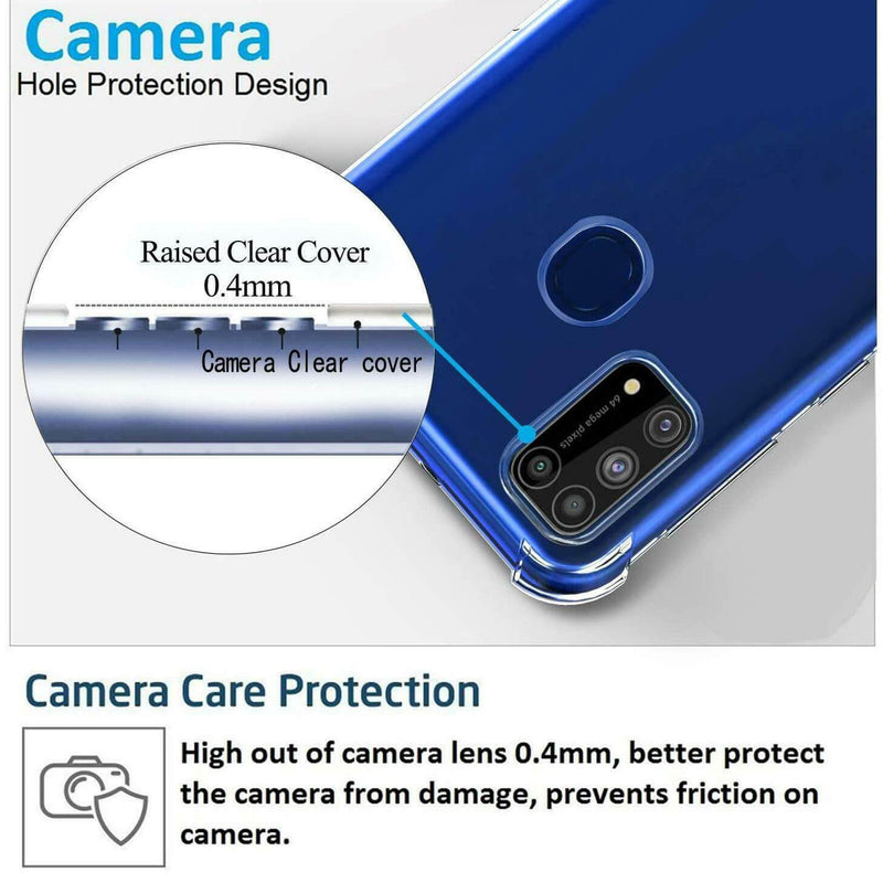 Clear Soft TPU Cover For Samsung Galaxy A21s ShockProof Case