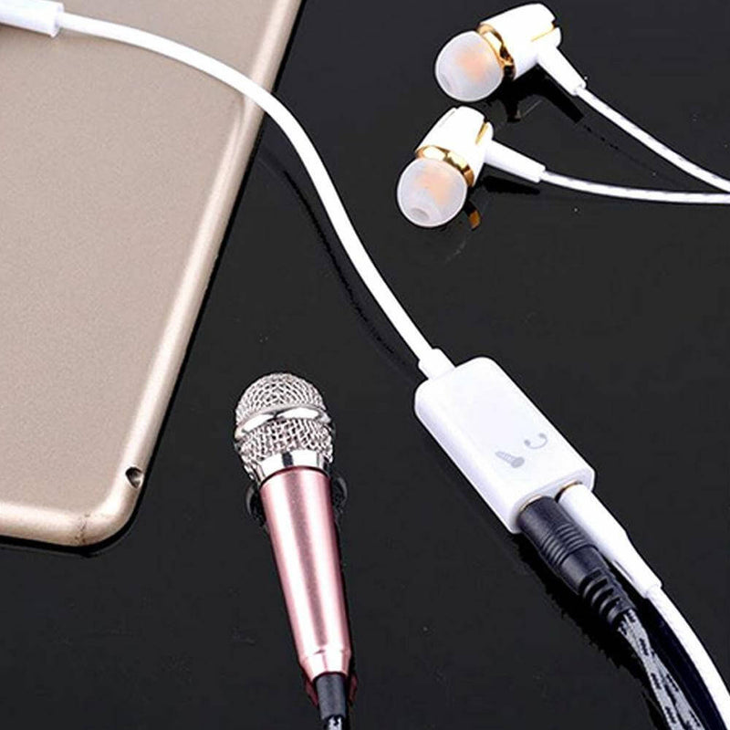 3.5mm Audio Headset Mic Y Splitter Cable Adapter TRRS to 2 TRS