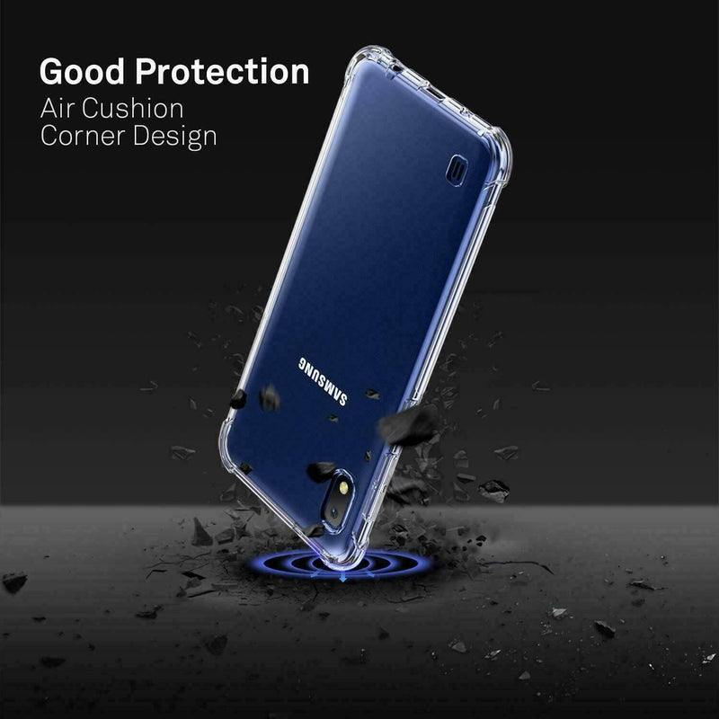 Samsung Galaxy A10 M10 Case Cover Clear ShockProof Soft TPU Silicone