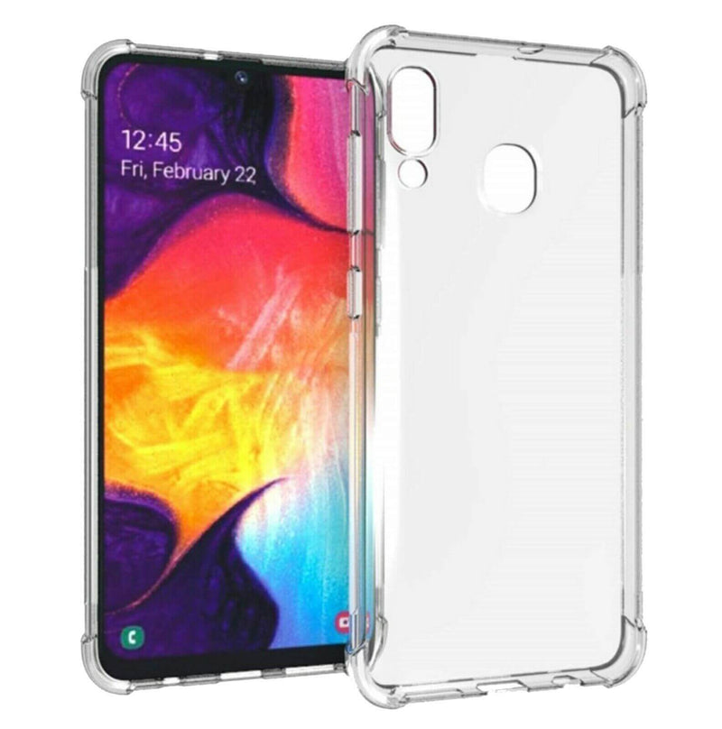 Samsung Galaxy A20 A30 M10s Case Cover Clear ShockProof Soft TPU Silicone