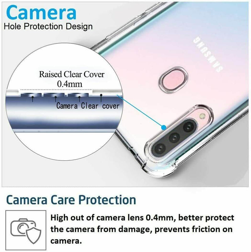 Samsung Galaxy A20s Case Cover Clear ShockProof Soft TPU Silicone
