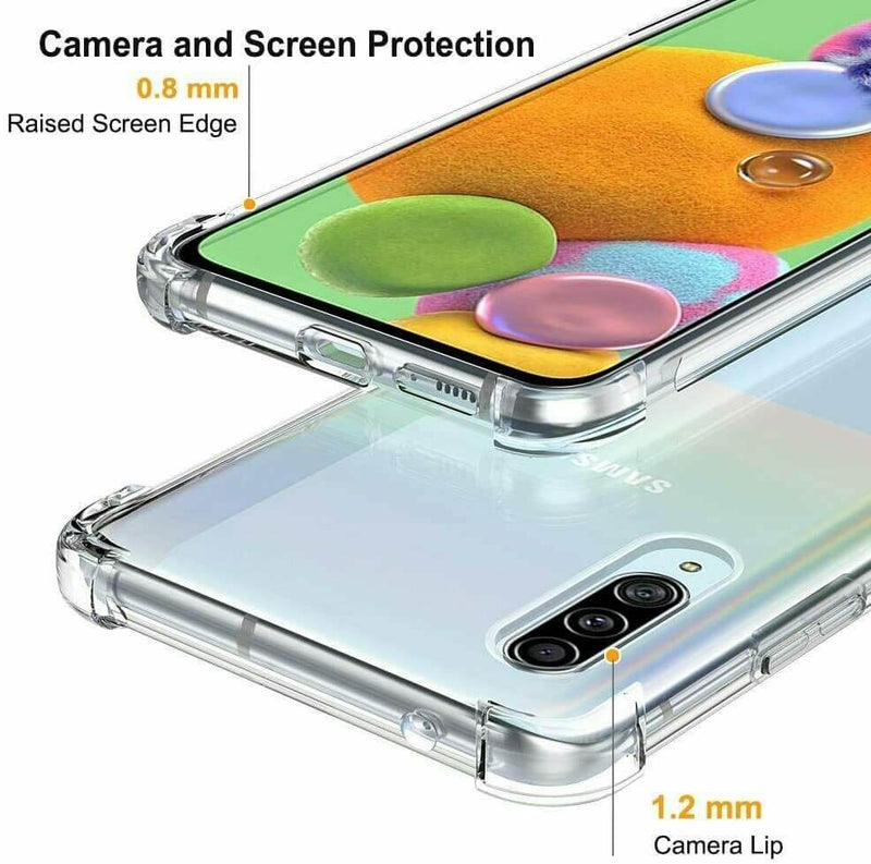 Samsung Galaxy A90 5G Case Cover Clear ShockProof Soft TPU Silicone