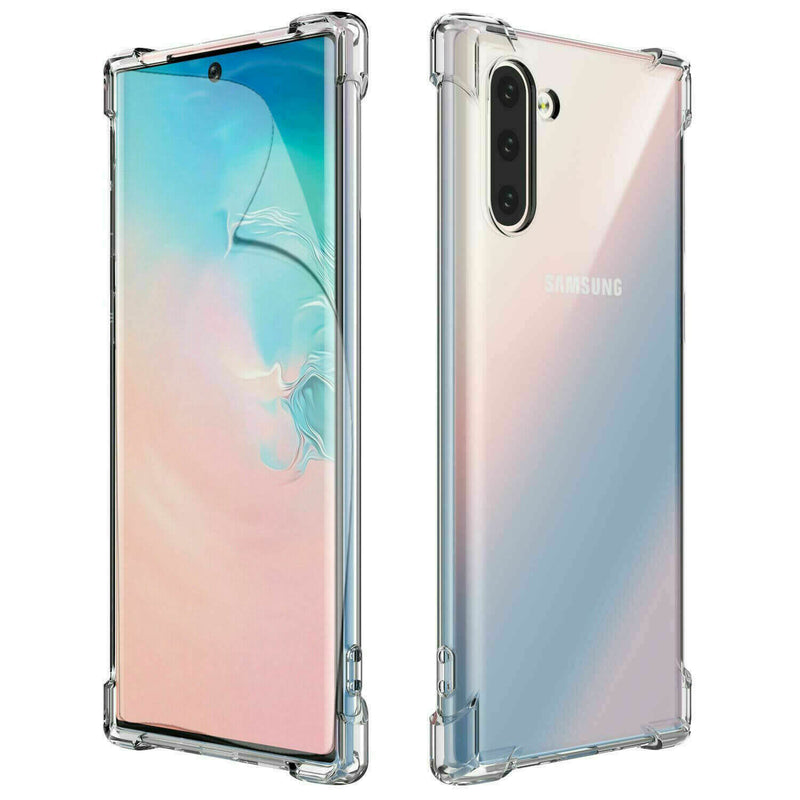 Samsung Galaxy Note 10 Case Cover Clear ShockProof Soft TPU Silicone