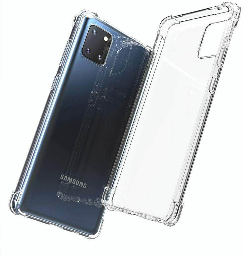 Samsung Galaxy Note 10 Lite Case Cover Clear ShockProof Soft TPU Silicone