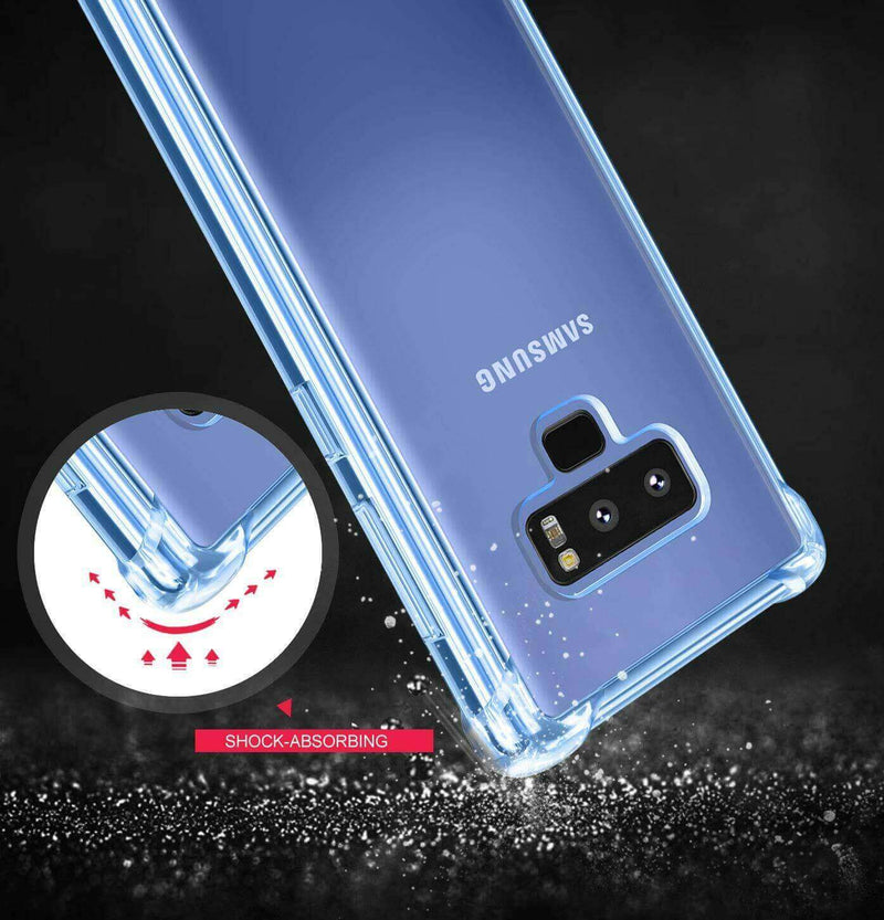 Samsung Galaxy Note 9 Case Cover Clear ShockProof Soft TPU Silicone