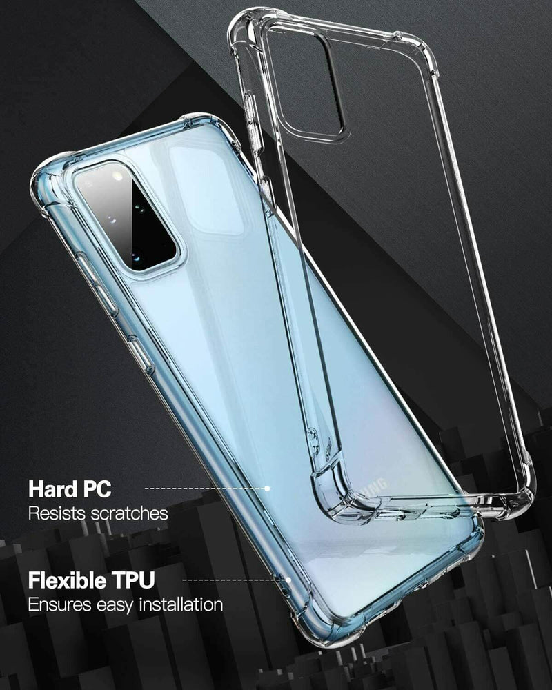 Samsung Galaxy S20+ / S20+ 5G Case Cover Clear ShockProof Soft TPU Silicone