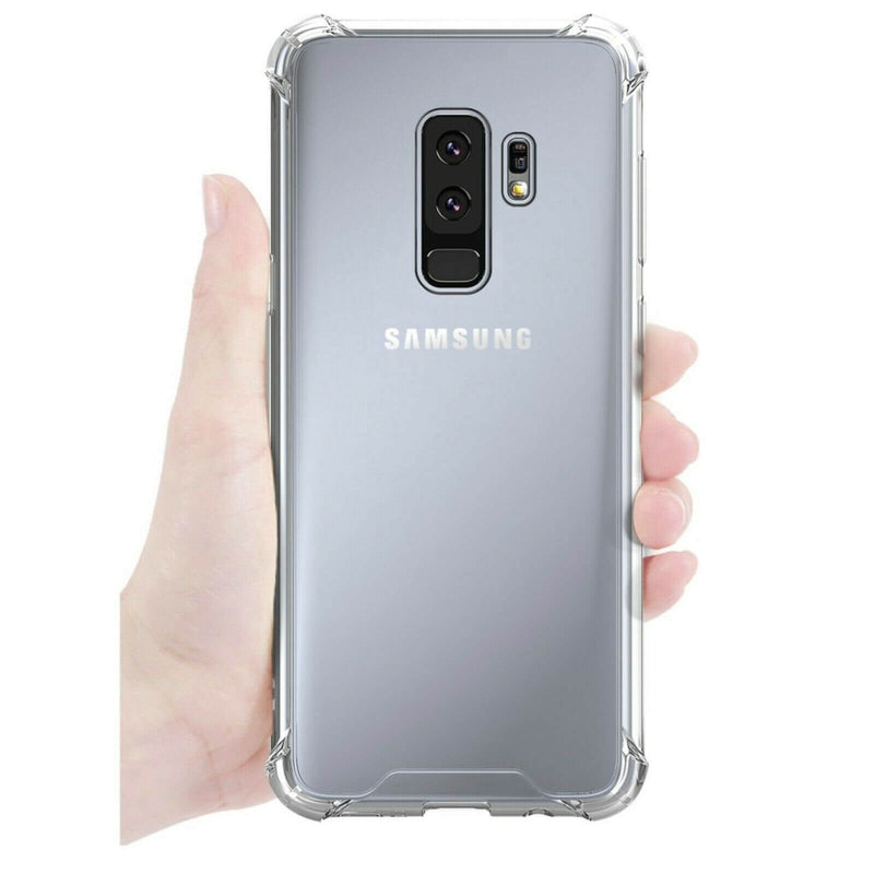 Samsung Galaxy S9 Plus Case Cover Clear ShockProof Soft TPU Silicone