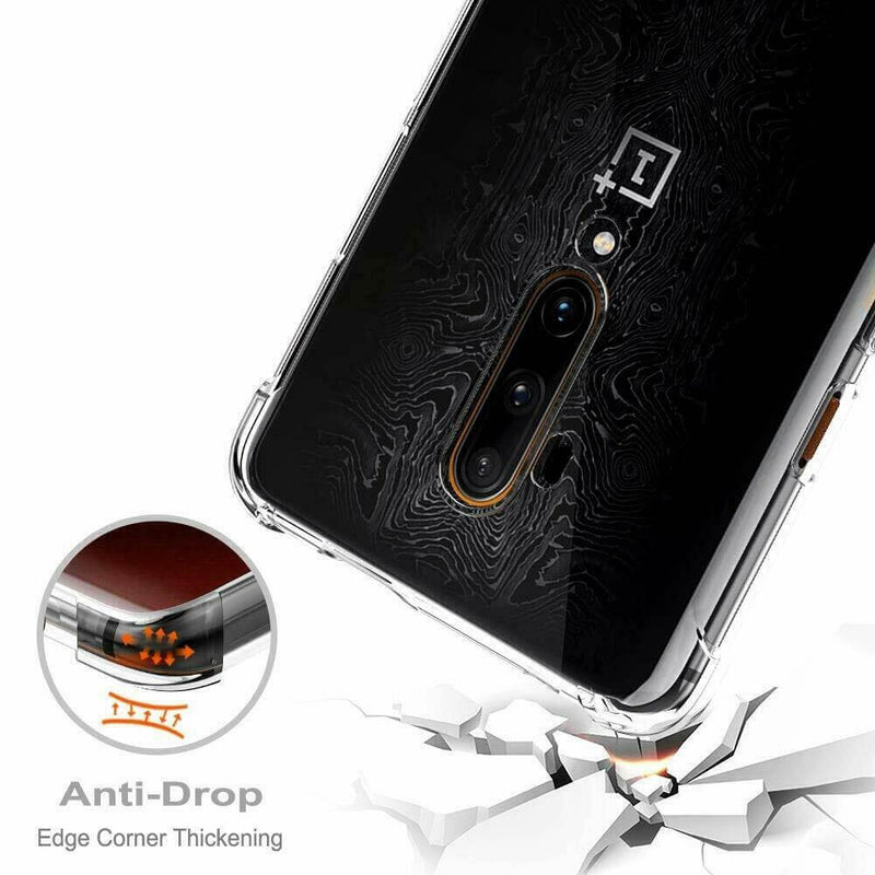 OnePlus 7T Pro Case Cover Clear ShockProof Soft TPU Silicone