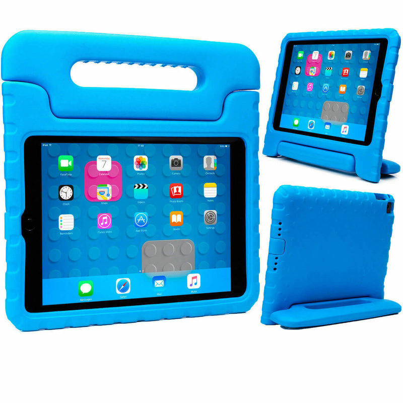 "Apple iPad 9.7"" 2017 / 2018 Kids Case Shockproof Cover With Stand Blue"