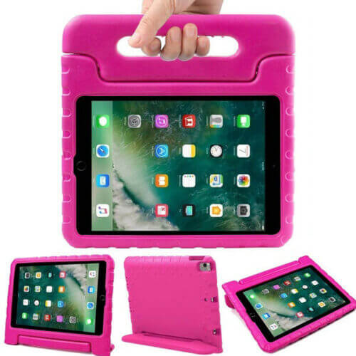 "Apple iPad 9.7"" 2017 / 2018 Kids Case Shockproof Cover With Stand Pink"