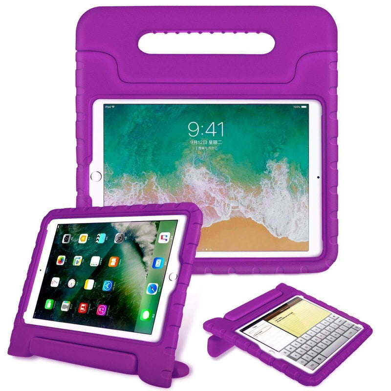 "Apple iPad 9.7"" 2017 / 2018 Kids Case Shockproof Cover With Stand Purple"