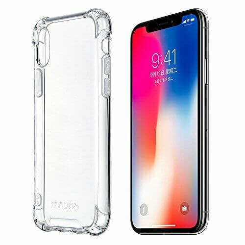 Apple iPhone X / XS Case Cover Clear ShockProof Soft TPU Silicone